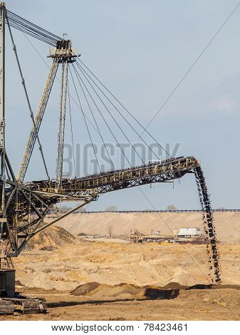 Opencast Brown Coal Mine Giant Excavator.