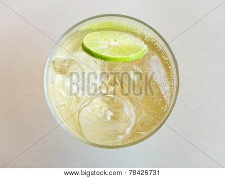 Glass of Refreshing Cold Ginger Ale