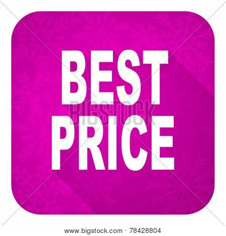 best price violet flat icon, christmas button