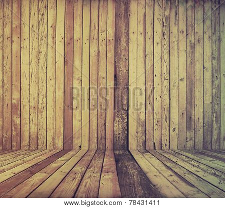 vintage wooden room, retro film filtered, instagram style