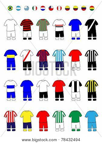 Latinamerican Clubs Jerseys Football Kits