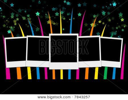 Blank Photos on Party Background