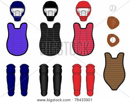Baseball Catcher Equipment Kit