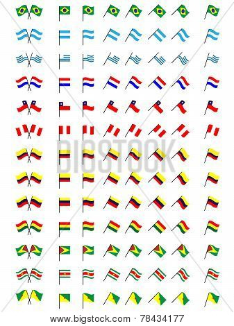 Flags Of South America (no Coats Of Arms)