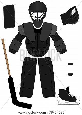 Ice Hockey Goalkeeper Equipment Kit
