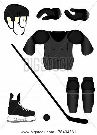 Ice Hockey Player Equipment Kit