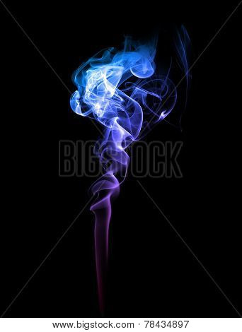 Abstract Blue And Purple Smoke