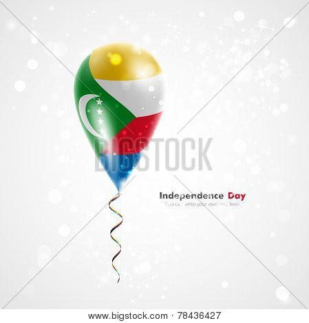 Flag of Comoros on balloon