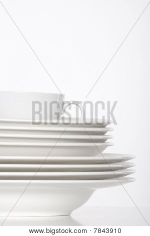 White Plates And Cup