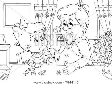 Granddaughter and grandma