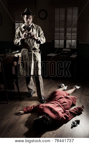 Photographer On Crime Scene