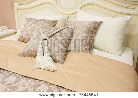 closeup pillows with decorative element