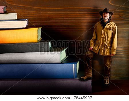 Cowboy In The Library