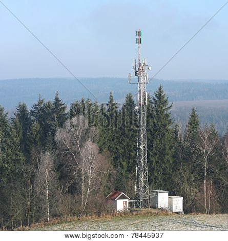 Television Transmitter On Edge Forest