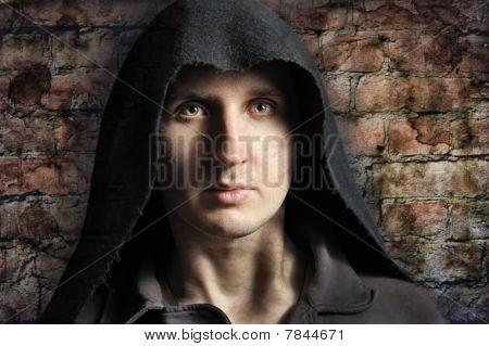 Spooky Man In Hood