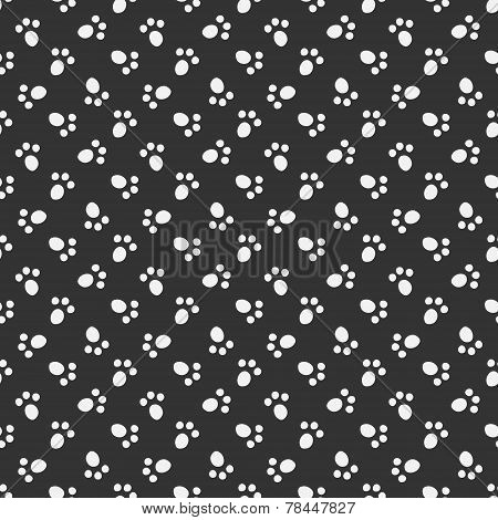 Black vector animal footprint seamless pattern