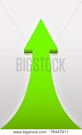 Green Arrow On White Background