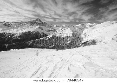 Majestic Winter View Of Mount Viso