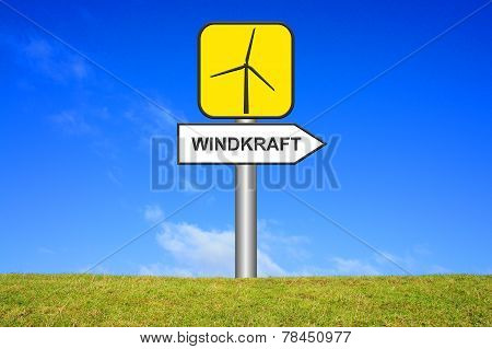 Yellow Sign windmill