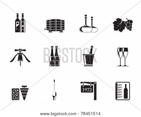 Silhouette Wine and drink Icons