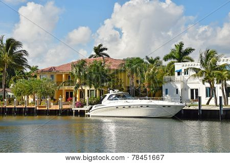 Luxury Yacht And Waterfront Home