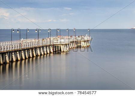 Pier In Gdynia, Poland