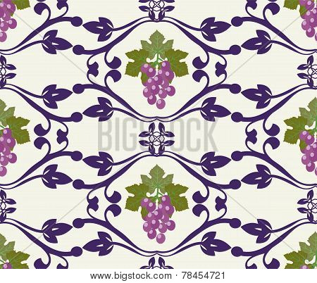Decorative Grapes Beautiful Grape Pattern