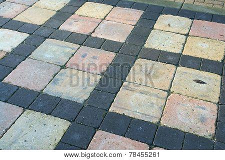 Details Of  Gray Stone Brown Garden Tiles
