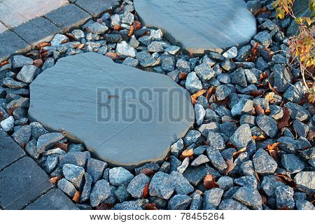 Stone Pavement In A Garden