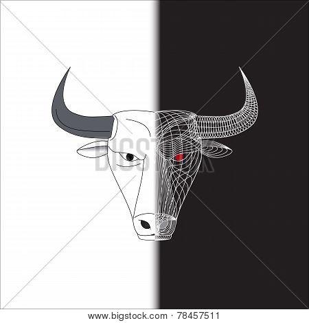 Bull Half Wire Face