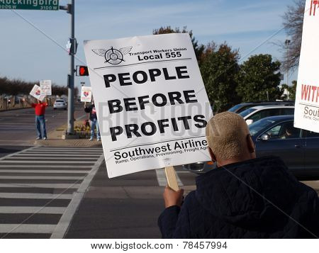 Southwest Airlines Pickets