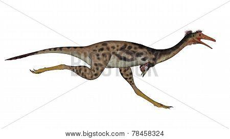 Mononykus dinosaur running - 3D render