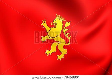 Flag Of Zaragoza City, Spain.