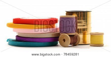 Bobbins And Reels Of Ribbon