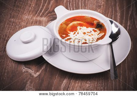 Eastern European Soup Rassolnik In Bowl