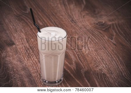 Chocolate Milk Shake In Glass
