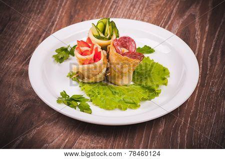 Eastern European Pancake Rolls