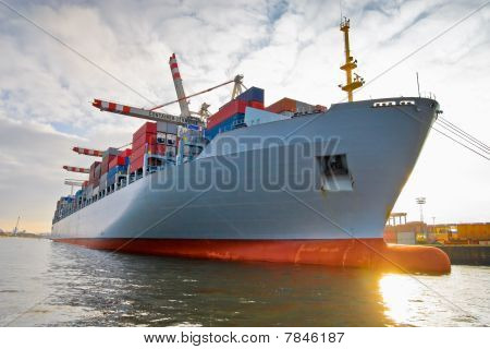 Cargo Freight Container Ship