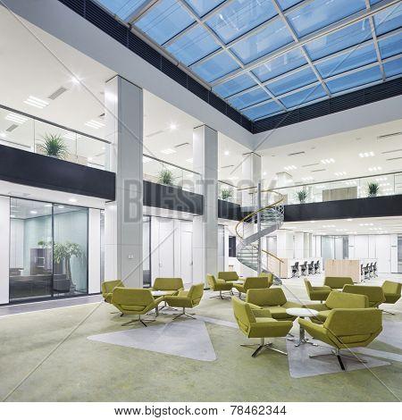 modern office lobby hall interior