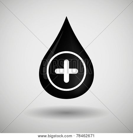 Oil Drop Icon With A Sum Sign