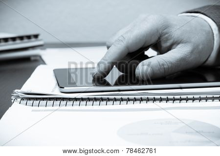 Human Hand And Tablet