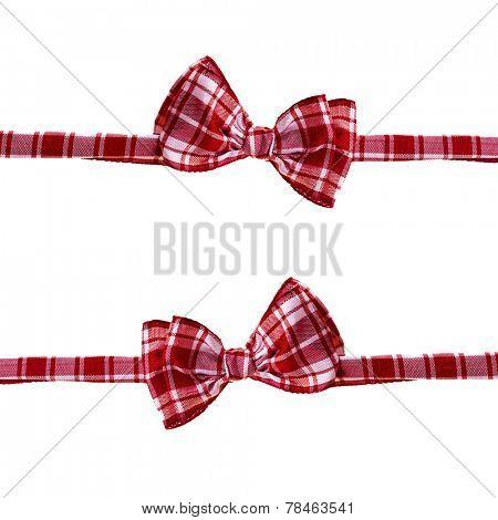 handmade scottish bow tie isolated on white background