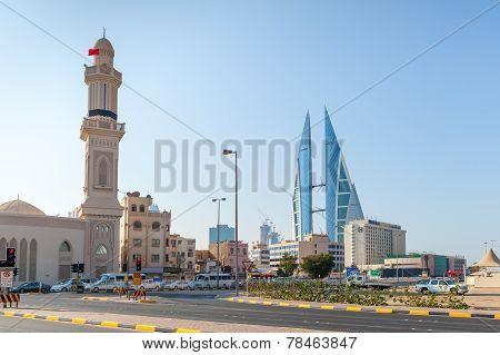 Shaikh Hamad Causeway Street View. Manama, Bahrain
