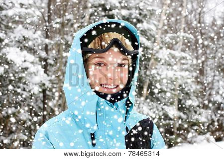 Young Woman And Winter
