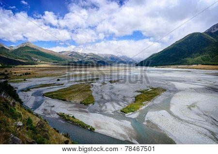 Arthur's Pass River, New Zealand.
