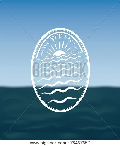 Badge Concept: the Sea Shell