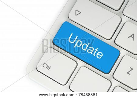 Blue update button