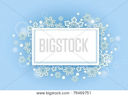 Winter Snows Background with White Space