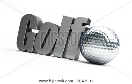 Golf ball silver