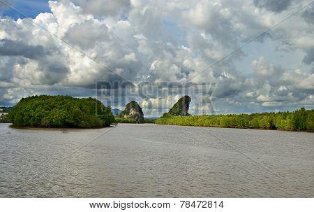 Dramatic Cloudscape At Krabi Rocks